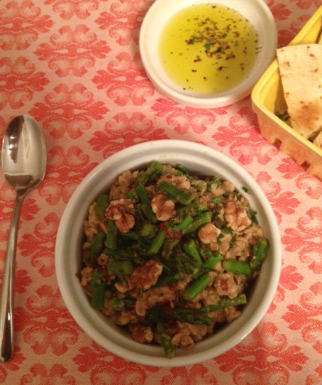 Creamy Chilled Farro + Asparagus - The Little Foxes Vegan Recipe Style