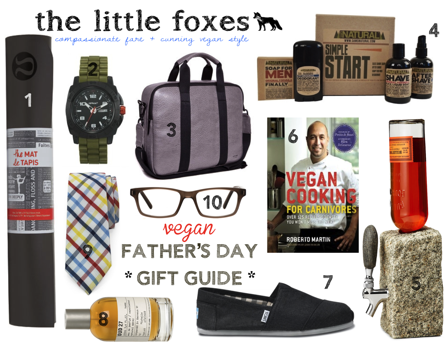 the little foxes vegan eco friendly fathers day gift guide